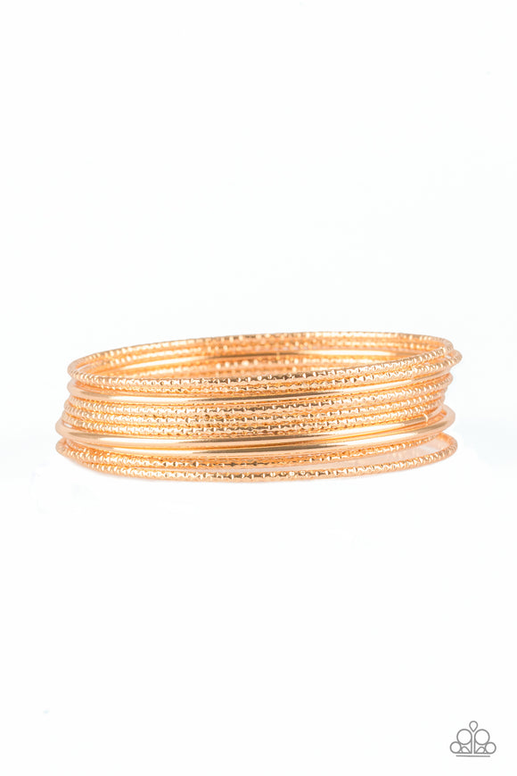 Paparazzi Bangle Babe - Gold
