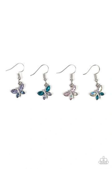 Paparazzi Starlet Shimmer Butterfly Rhinestone Dangle Earrings