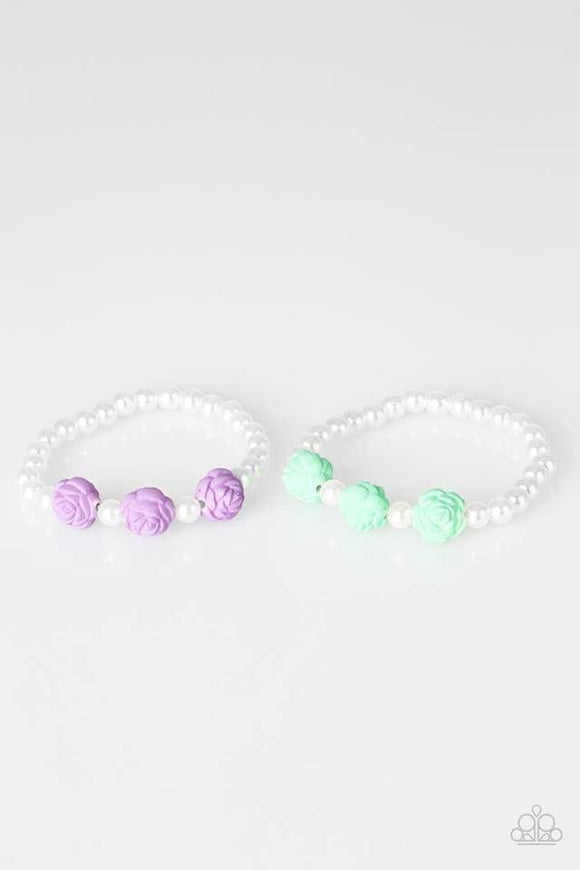 Paparazzi Starlet Shimmer Pearl and Rose Bracelet