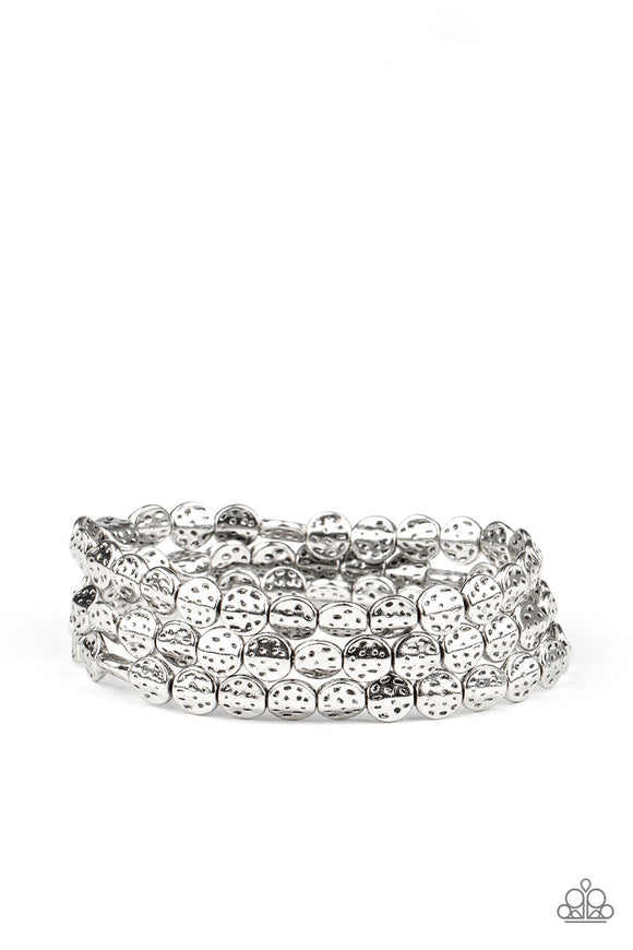 Paparazzi Hammered Heirloom - Silver