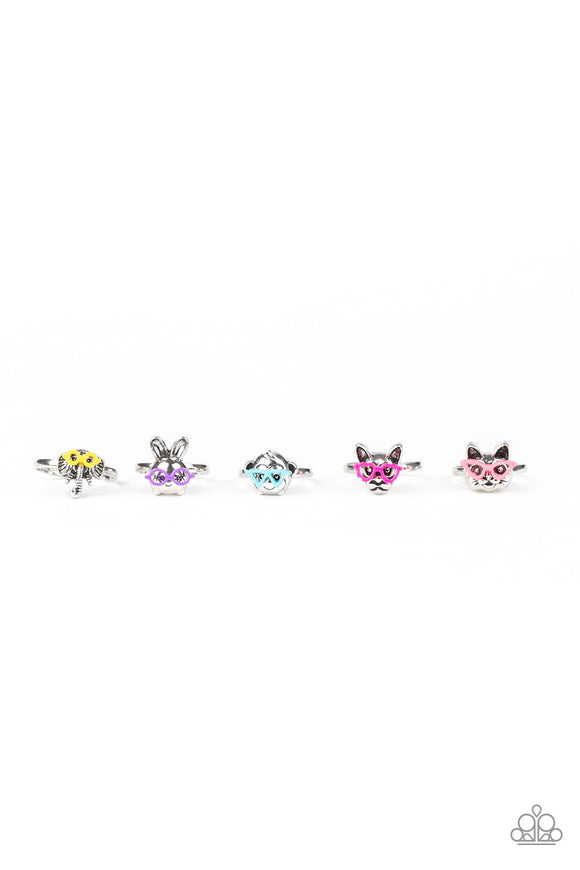Paparazzi Starlet Shimmer Animals Wearing Glasses Rings