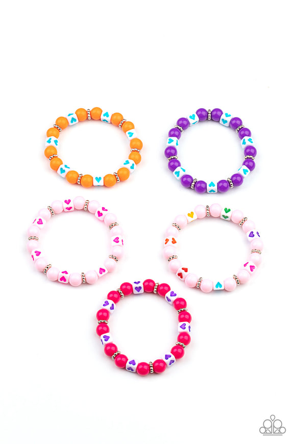 Paparazzi Starlet Shimmer Colorful Heart Stamped Beaded Bracelets