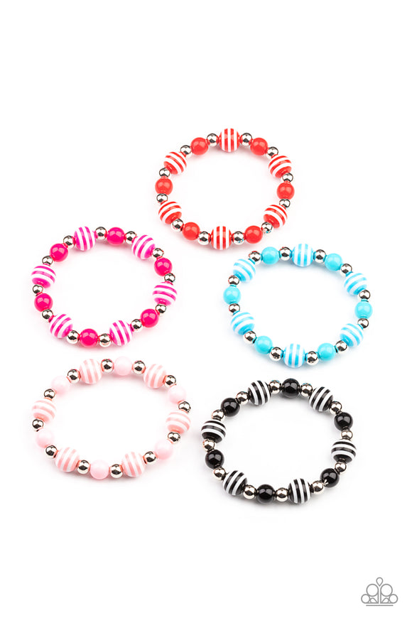 Paparazzi Starlet Shimmer Colorful Striped And Solid Bead Bracelets