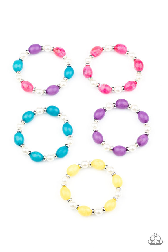 Paparazzi Starlet Shimmer Colorful beads And White Pearl Bracelets