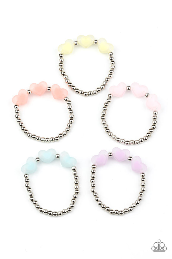 Paparazzi Starlet Shimmer Frosted Heart Beaded Bracelets