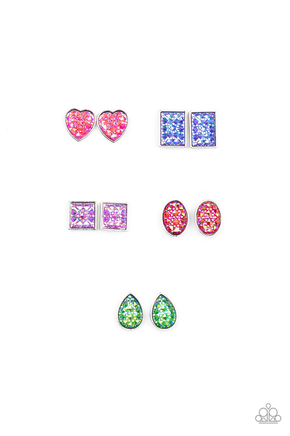 Paparazzi Starlet Shimmer Glitzy Iridescent Shape Earrings
