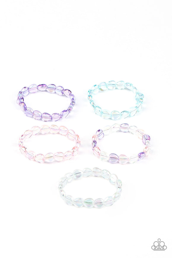 Paparazzi Starlet Shimmer Iridescent Heart-Shaped Beaded  Bracelets