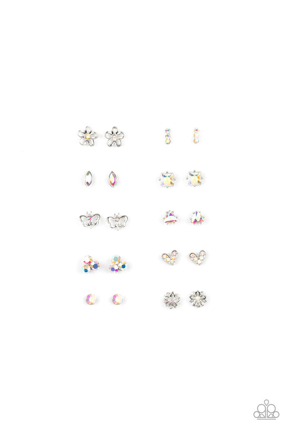 Paparazzi Starlet Shimmer Iridescent Rhinestones Shape Earrings