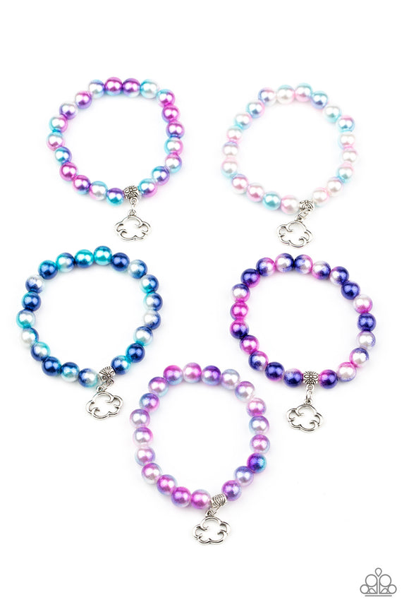 Paparazzi Starlet Shimmer Pearly Multicolored Cloud Charms Bracelets