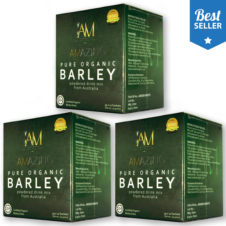 3 Boxes of Amazing Pure Organic Barley ( 1 month supply)