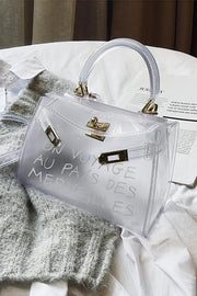 Letter Print Clear Bags