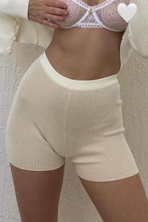 Solid Knit Boxer Shorts