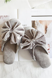 Velvet Bow Slipper