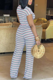 Stripe Knot Pants Set