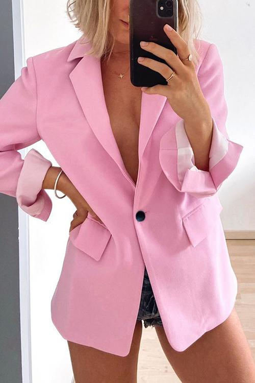 Pink Button Pink Blazer