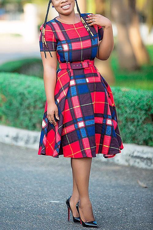 Pliad A Line Dress With Belt