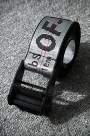 Letter Print Canvas Belt