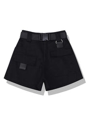 Pockets Cargo Shorts With Belt