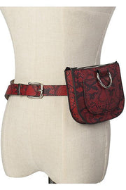 Snakeskin Belt Bag