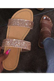 Bling It Out Flat Sandal