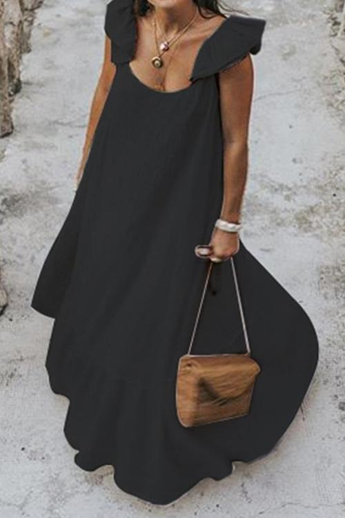 Ruffles Sleeveless Maxi Dress