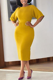 Half Sleeve Bodycon Dress