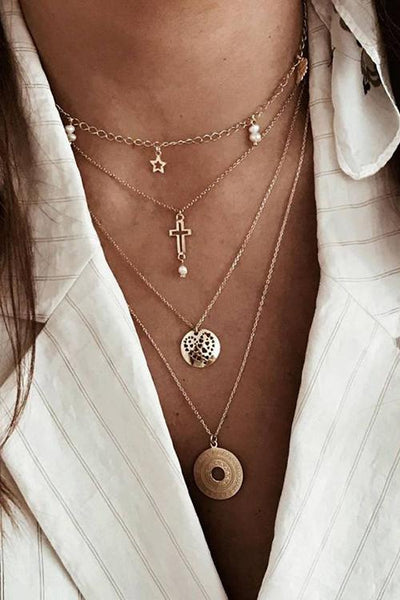 Star Cross Layer Necklace