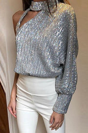 Sparkle One Shoulder Top