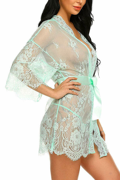 Lace Bow Tie Mimi Night-gown