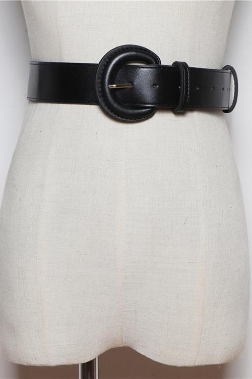 Semicircle Buckle Wide Belt