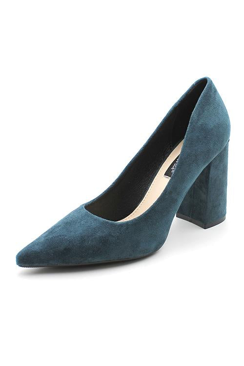 Solid Pointed Toe High Heel Pumps