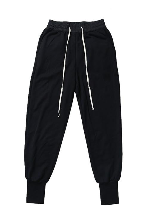 Solid Pockets Drawstring Joggers