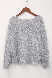 Glitter Fuzzy Loose Sweater