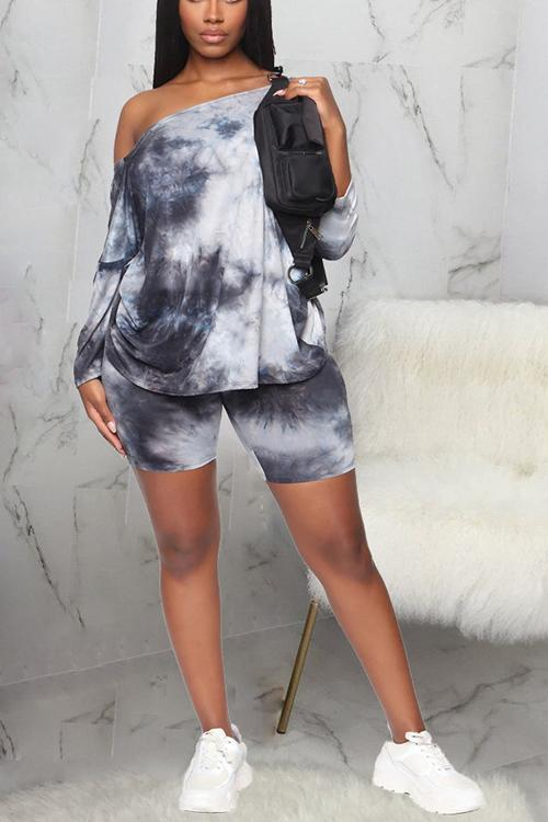 Tie Dye Cross Back Short Set