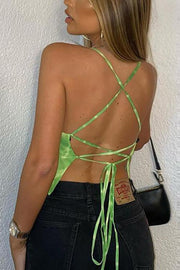 Tie Dye Backless Slip Top