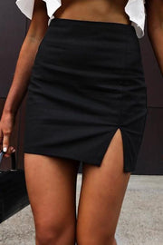 Slit Mini Skirts