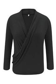 Deep V Neck Long Sleeve T Shirt