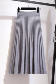 Pleated Knit A Line Skirts