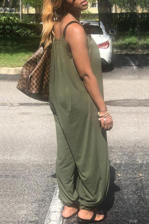 Sleeveless Loose Jumpsuit
