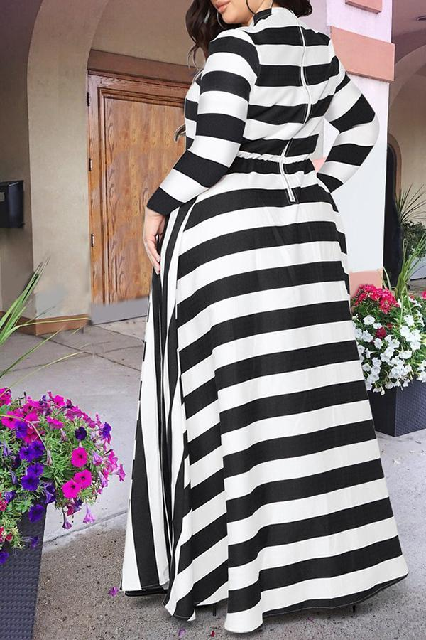Long Sleeve Pleated Maxi Dress