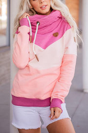 Color Block Drawstring Hoodie