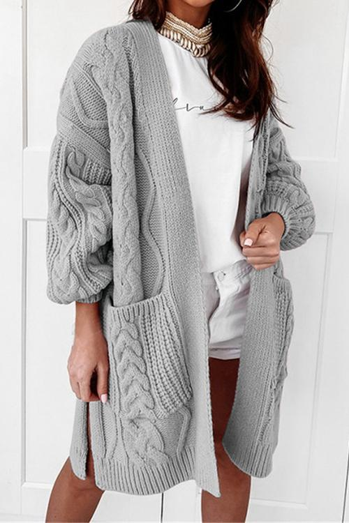 Twist Pockets Cardigan