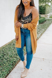 Yellow Pockets Long Sleeve Cardigan