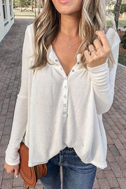 Button Long Sleeve Henley shirt