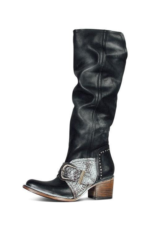 Buckle Zipper High Boots