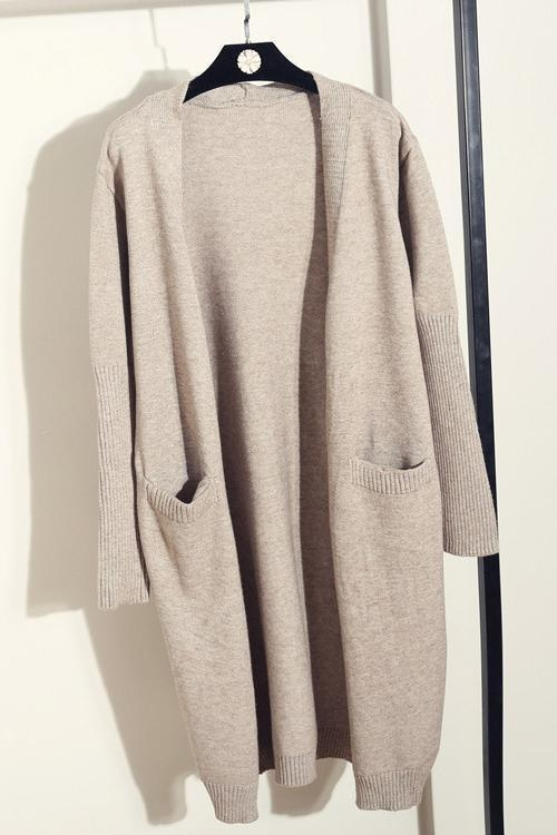 Pockets Long Sleeve Cardigan