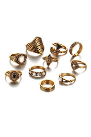 Vintage 10pcs Ring Set