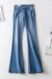 Mide Waist Flares Jeans