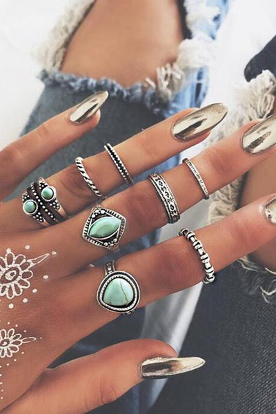 Calaite Rings Set