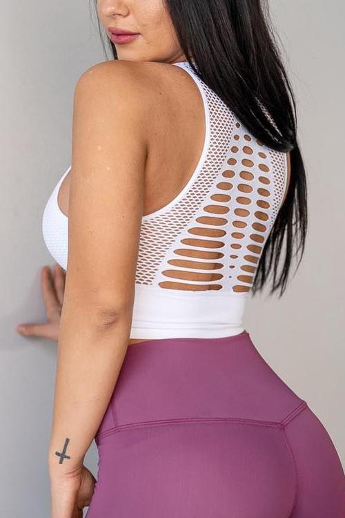 Mesh Backless Bra